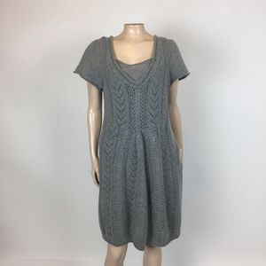 Sleeping on Snow Wool Angora Sweater Dress P3-30